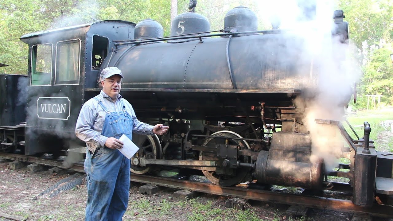 Operating a Vulcan Iron Works 0-4-0T Steam Locomotive