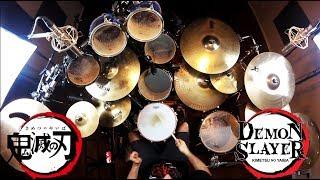 Gambar cover Kin | Demon Slayer OP / LiSA | Gurenge | Drum Cover (Studio Quality)
