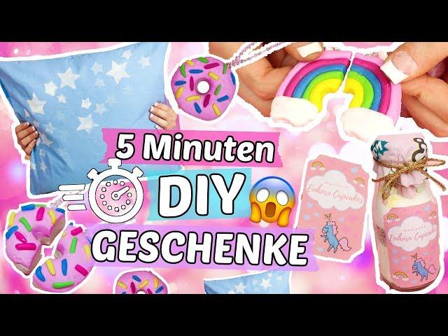 5 Minuten DIY GESCHENKE für WEIHNACHTEN