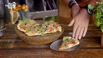 Kotitekoisen pizza prosciutton valmistaminen – Big Green Egg