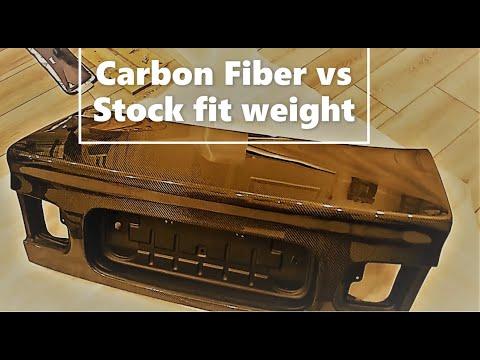 Seibon carbon fiber weight vs oem civic