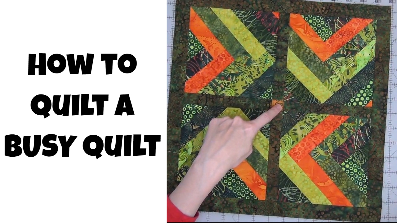 How to Quilt a Busy Quilt Top - Free Motion Quilting and Ruler ... : tradewinds quilt pattern free - Adamdwight.com
