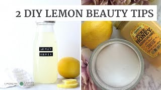 2 DIY Beauty Tips With Lemons | Collab with Ami Desai | HealthyGroceryGirl.com
