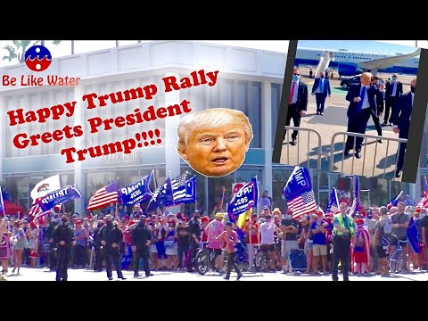 Happy Trump Rally Greets President Trump - Your Thoughts?