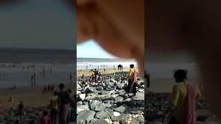 girl and boys baths DIGHA sea BEACH