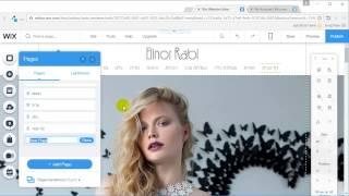 בניית אתר וויקס - וויקסר (wix video) - ניהול דפים בוויקס