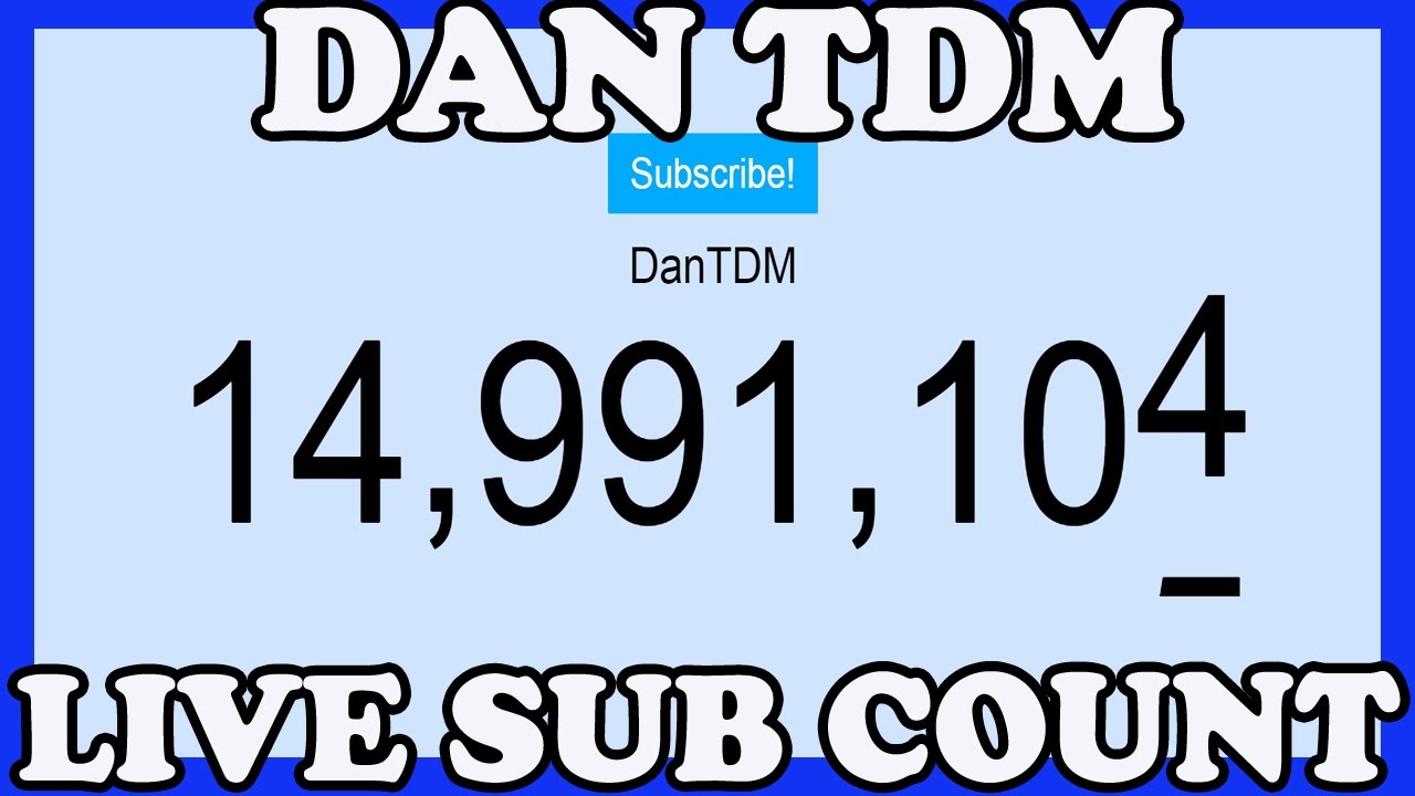 dan tdm live subscriber count 15 million subscribers live