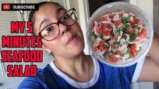 My 5 Minute Seafood Salad