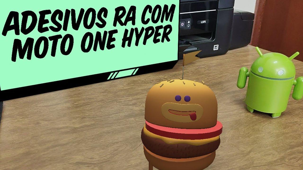 Adesivos RA  Realidade Aumentada  com Motorola One Hyper
