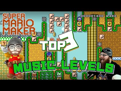TOP 3 MOST AMAZING MUSIC LEVELS - Super Mario Maker - Com_Poser Creator Showcase!