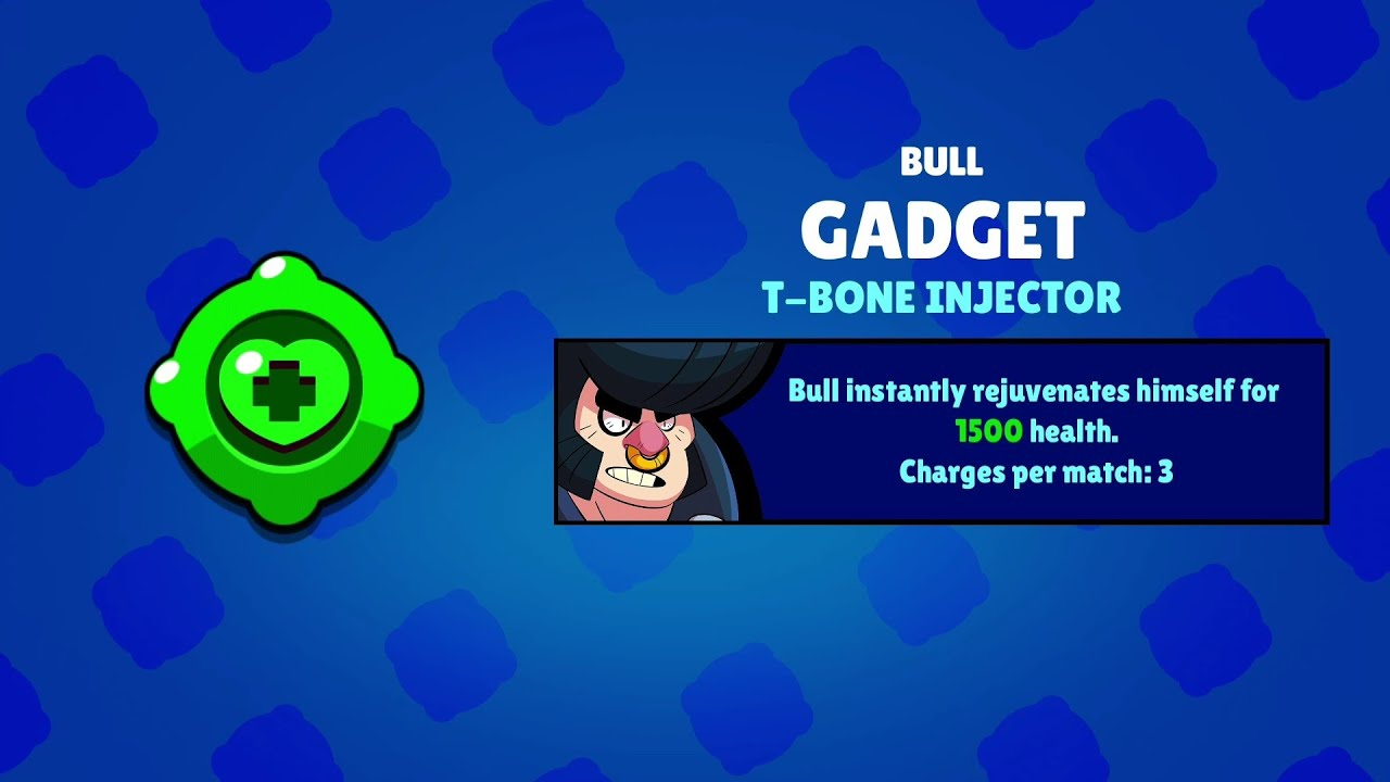 Bull Gadget Its *OP* or Not | Brawl Stars Gameplay - YouTube