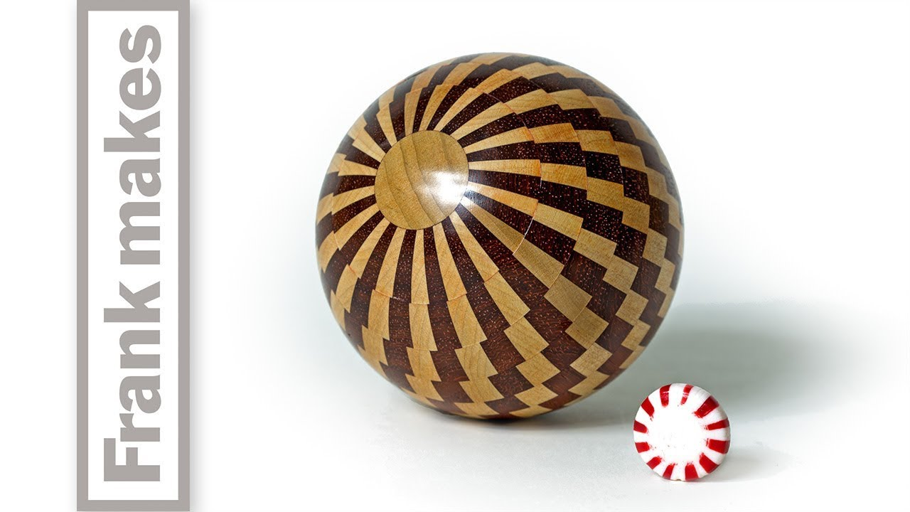 Wood Turned Peppermint Christmas Ornament - YouTube