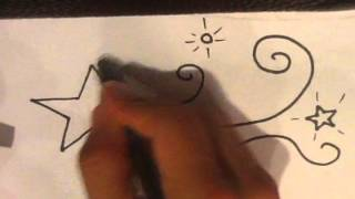 How to Draw a Tattoo - Shooting Star