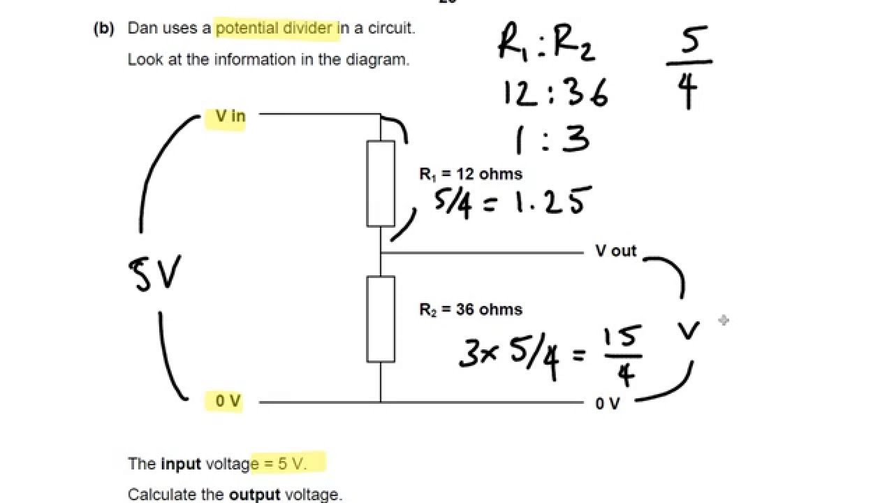 Light Dependent Resistors And Potential Dividers Ocr Gateway P6 Resistor Circuit Diagram On A Q14 Gcse Physics Revision