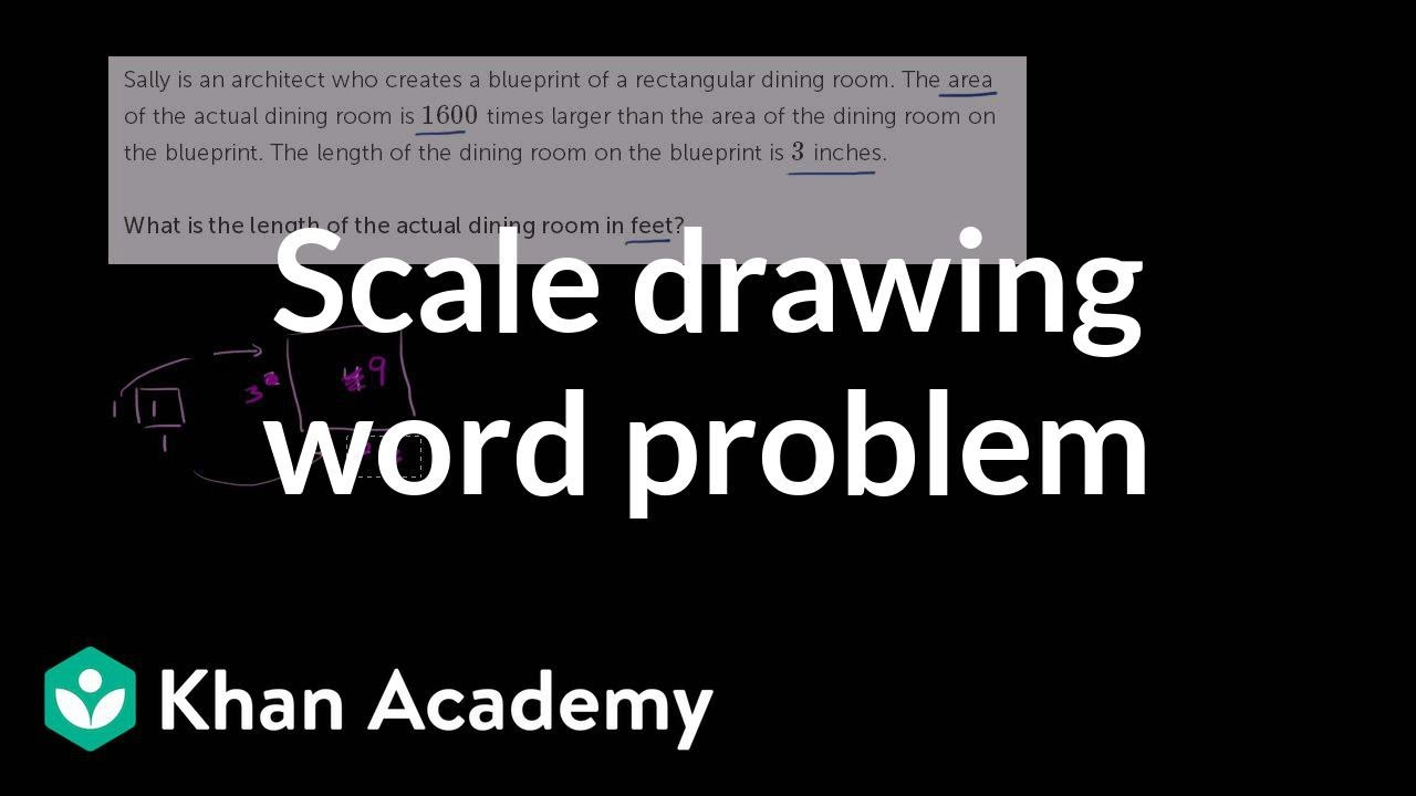 Solving a scale drawing word problem (video)   Khan Academy [ 720 x 1280 Pixel ]