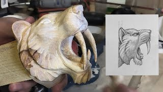 Carving An Apex Predator Sabertooth tiger