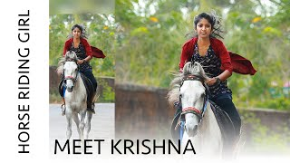Meet Krishna - Viral Horse Riding Girl !!!!! | Kerala Girl Rides Horse to School