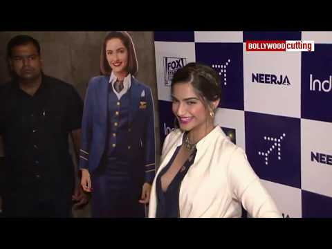 Sonam Kapoor Aaccidential Boobs Show at Neerja special Screening thumbnail