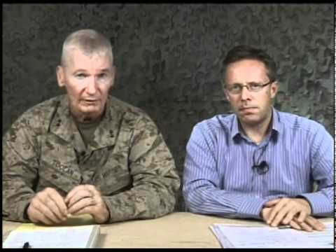 General holds press conference concerning Regional Command Southwest