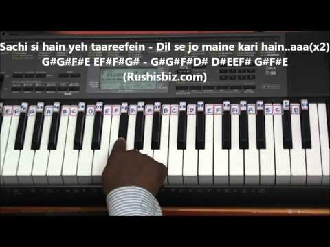 Jeena Jeena Piano Tutorials - Badlapur .... FUll SONG