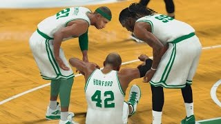 NBA 2K17 PS4 My Career - Al Horford Goes Down!