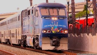 Amtrak Trains & A Coaster in San Diego, CA (August 18th, 2013)