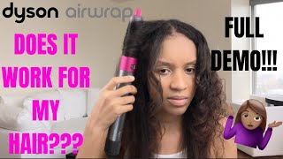 First Impression | NEW Dyson Airwrap Styler Smooth+Control | PLUS Demo | 3c Curly Hair