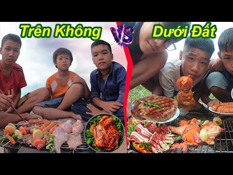 Trẻ Trâu Và Cuộc Thi Buffet Nướng Phong Cách Trên Không Và Dưới Đất | Ăn Mừng 2.500.000 Sub | TQ97