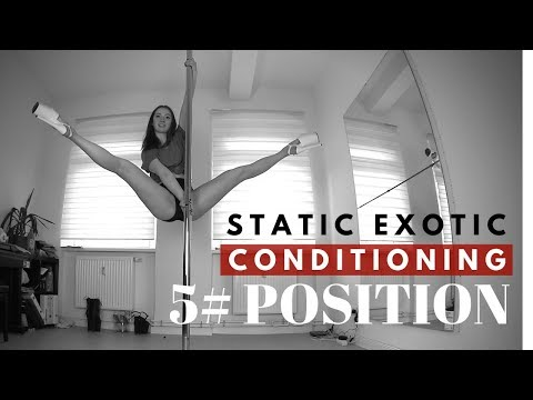 Tutorial: 5/5 Exotic Pole Dance - Static Conditioning Positions (How To Do Split Grip Leg Lift)