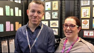 Tim Holtz talks about his collection at Stampers Anonymous.