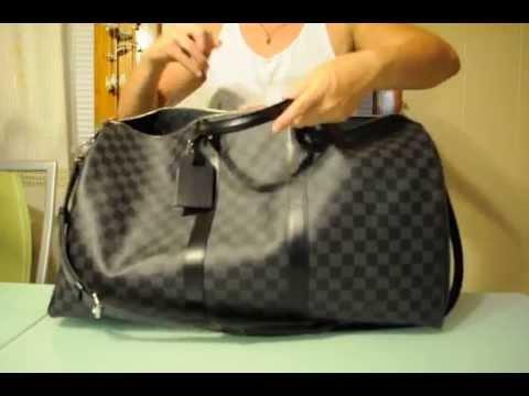 cceb98e20c3b Louis Vuitton Keepall Bandouliere 55 Damier Graphite - YouTube