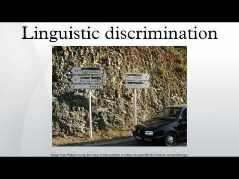 Linguistic discrimination - Yo...