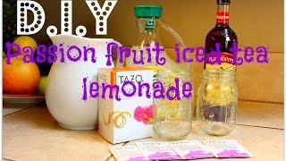 Diy: Starbucks Passion Fruit Iced Tea Lemonade W/ Raspberry (jaclyn Hill's Favorite Drink)