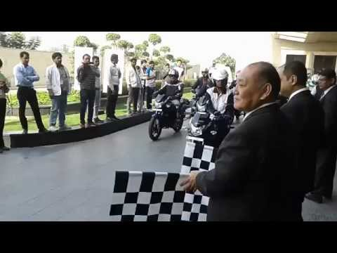 Honda CB Shine SP Test Ride Flag-Off