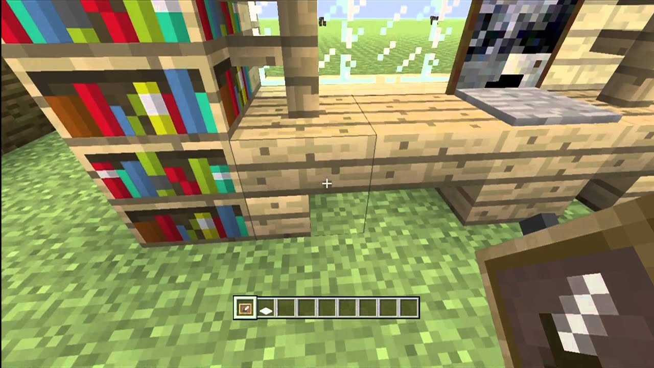 Minecraft: How to build an Office Desk - YouTube