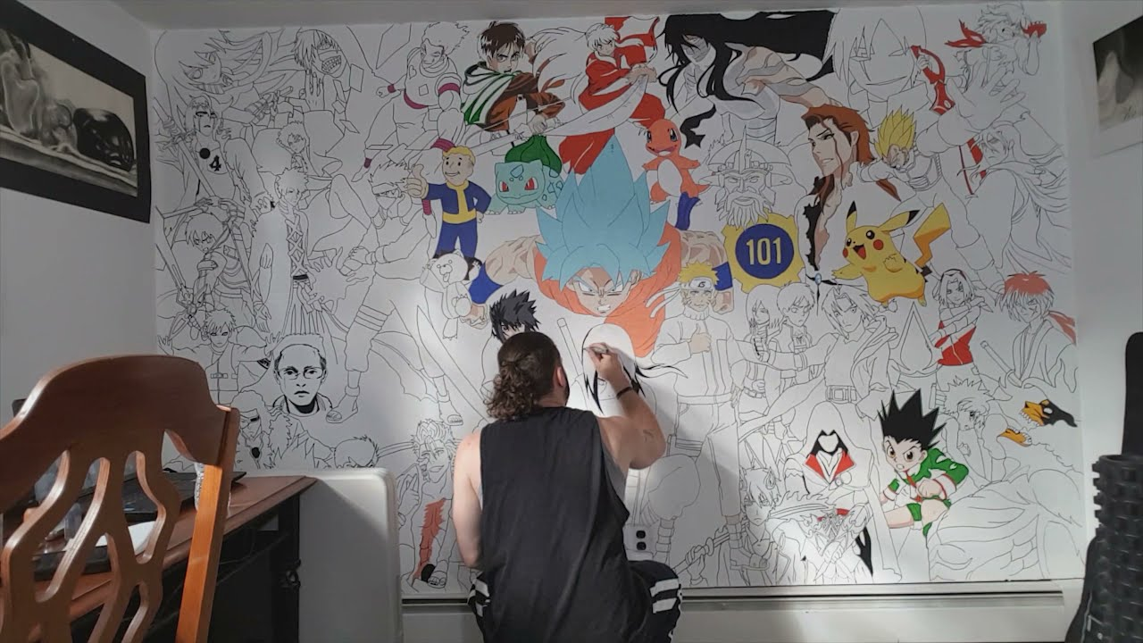 Anime Characters Wall Mural Painting Part 2