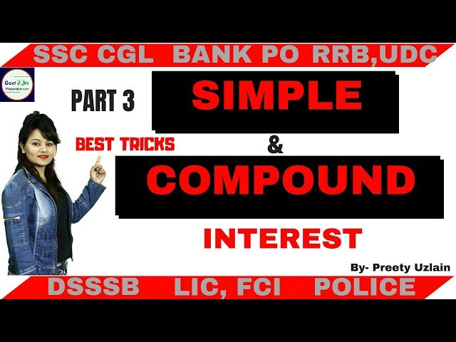Simple and Compound Interest Formula | SSC CGL| SSC CHSL| SSC GD |BANK| RRB |STATE POLICE