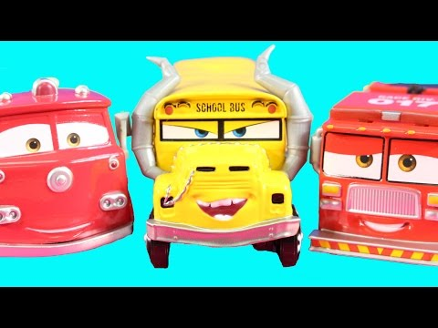 Cars 3 Miss Fritter Starts Fire Disney Pixar Cars Red & Tiny Lugsworth Rescue With Lightning McQueen