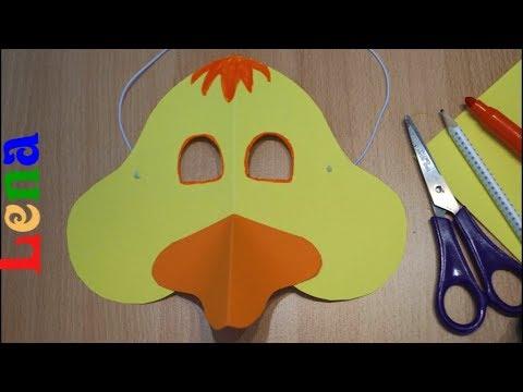 Enten Maske Basteln How To Make Duck Mask Diy как сделать маску утки