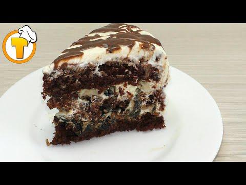 Очень вкусный и нежный торт с черносливом и орехами.