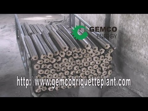 How the biomass briquette press machine makes briquettes