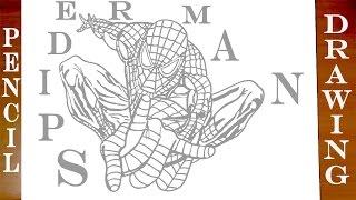 pencil easy drawings superhero spiderman drawing draw paper