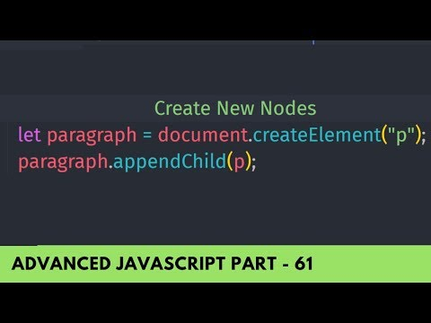 Create New DOM Element Using CreateElement() - Advanced JavaScript Tutorial Part - 61
