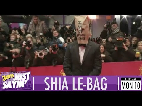 Shia LeBeouf wears paper bag over face on red carpet - Just Sayin'