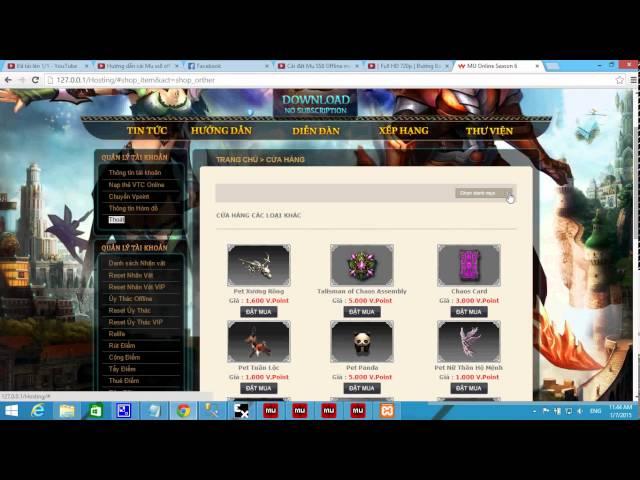 Cài đặt Mu SS8 Offline miễn phí - Phần 3 (Hoàn) - clipzui com