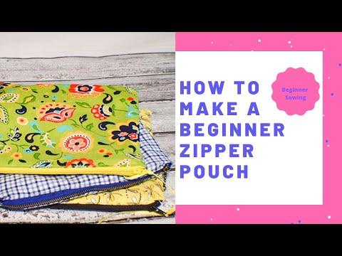 How to Make a Beginner Zipper Pouch