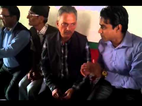 Ex. Prime Minister Baburam Bhattrai in community nature cure hospital