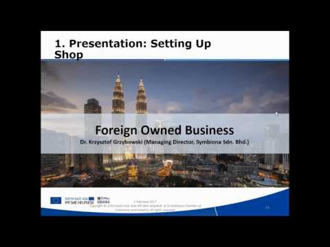 Webinar: Doing Business and setting up a shop in Malaysia