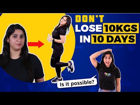 How to lose weight fast? Lose 10 KG in 10 Days | By GunjanShouts