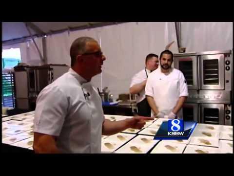 Food Network's Guy Fieri and Robert Irvine in Pebble Beach